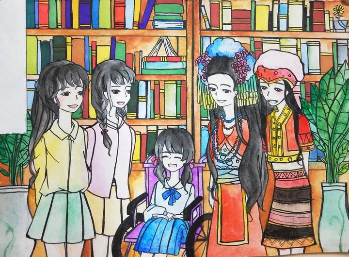 周蕊《图书馆的欢乐时光》-14岁-广东.jpg